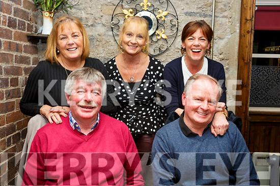 Friends enjoying a evening out in the Croi Restaurant on Saturday night last, Seated l-r, Martin O'Regan and Joesph Duke. Standing l-r, Carmel O'Regan, Stella Devaney and Jacintha Duke.