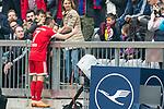 10.03.2018, Allianz Arena, Muenchen, GER, 1.FBL,  FC Bayern Muenchen vs. Hamburger SV, im Bild Jubel nach dem Tor zum 1-0 durch Franck Ribery (FCB #7) <br /> <br />  Foto &copy; nordphoto / Straubmeier