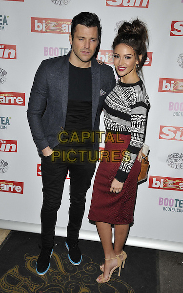 LONDON, ENGLAND - MARCH 02: Mark Wright &amp; Michelle Keegan attend the Sun's Bizarre column 1st annual party, Steam &amp; Rye bar &amp; restaurant, Leadenhall St., on Monday March 02, 2015 in London, England, UK. <br /> CAP/CAN<br /> &copy;CAN/Capital Pictures