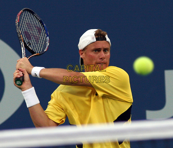 LLEYTON HEWITT.2005 US Open Tennis Tournament held at Flushing Meadows, Flushing, NY.Federer wins 6-3, 7-6(0), 4-6, 6-3.  .September 10th, 2005.Photo Credit Jackson Lee/Admedia.half length sport racket.www.capitalpictures.com.sales@capitalpictures.com.© Capital Pictures.