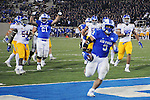 September 12, 2015 - Colorado Springs, Colorado, U.S. - Air Force running back, D.J. Johnson #3, scores his second of three touchdowns during Mountain West Conference action between the San Jose State Spartans and the Air Force Academy Falcons at Falcon Stadium, U.S. Air Force Academy, Colorado Springs, Colorado.  Air Force defeats San Jose State 37-16.