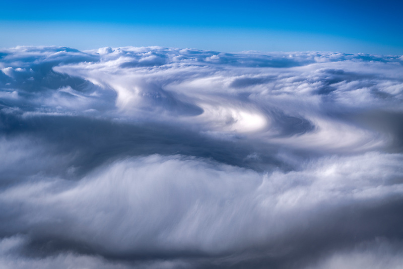 Clouds over the Pacific Ocean.