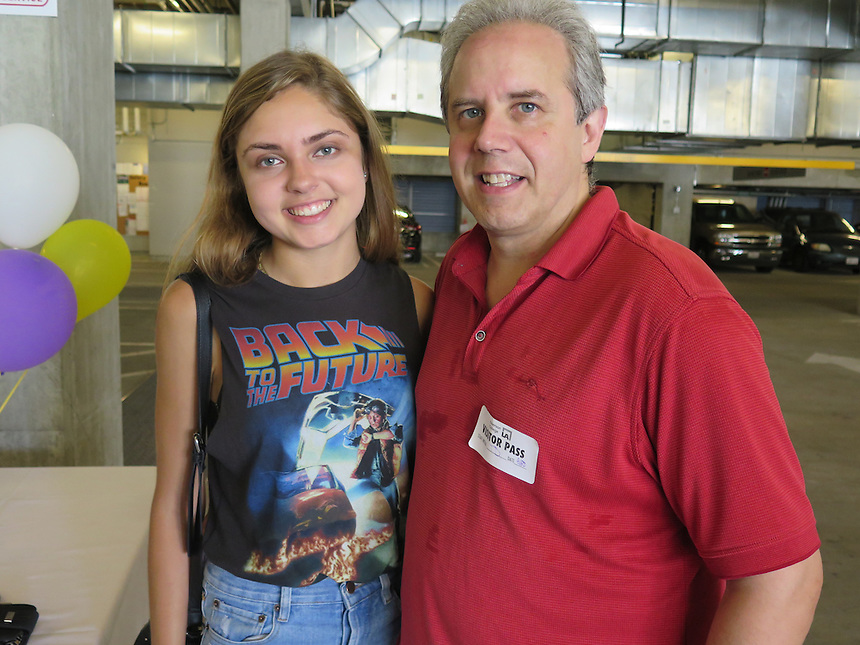 Kelly Budish '15 with her dad Andrew Budish.