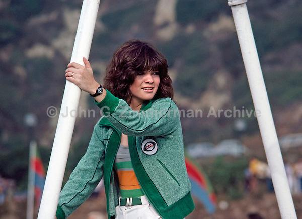 Actress Valerie Bertinelli at the Battle of the Network Stars for CBS, Pepperdine University, Pepperdine CA. November, 1979. Photo by John G. Zimmerman.