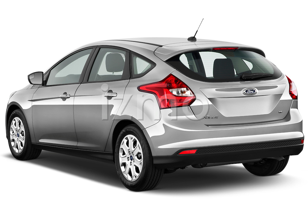 Rear three quarter view of a 2012 Ford Focus Hatchback SE