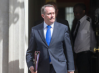 International Trade Secretary Liam Fox leaves the cabinet meeting at 10 Downing street