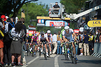 Marcel Kittel (DEU) winns his 3rd stage by beating Mark Cavendish by half a wheel<br /> <br /> Tour de France 2013<br /> stage 12: Fougères - Tours 218km
