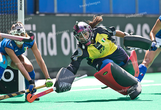 27/06/2015<br /> HWL Semi Final Antwerp Belgium 2015<br /> Netherlands v Italy Women<br /> Maria  Donati<br /> Photo: Grant Treeby