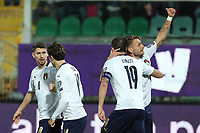 Italy's Ciro Immobile celebrates with teammates after scoring the 1-0 goal <br /> Palermo 18-11-2019 Stadio Renzo Barbera <br /> UEFA European Championship 2020 qualifier group J <br /> Italy - Armenia <br /> Photo Carmelo Imbesi / Insidefoto