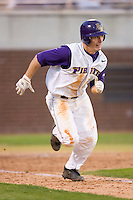 Trent Whitehead #1 of the East Carolina Pirates hustles down the first base line versus the Elon Phoenix at Clark-LeClair Stadium March 29, 2009 in Greenville, North Carolina. (Photo by Brian Westerholt / Four Seam Images)