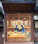 Antique pub sign for Captains Cabin, Gibraltar, British terroritory in southern Spain