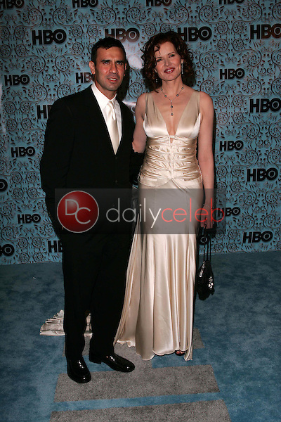 Geena Davis and husband Reza<br />At the HBO Emmy After Party. Pacific Design Center,Los Angeles, CA. 09-18-05<br />Dave Edwards/DailyCeleb.Com 818-249-4998