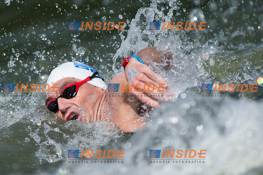 GIANNIOTIS Spyridon GRE<br /> Hoorn, Netherlands <br /> LEN 2016 European Open Water Swimming Championships <br /> Open Water Swimming<br /> Men's 10km<br /> Day 01 10-07-2016<br /> Photo Giorgio Perottino/Deepbluemedia/Insidefoto