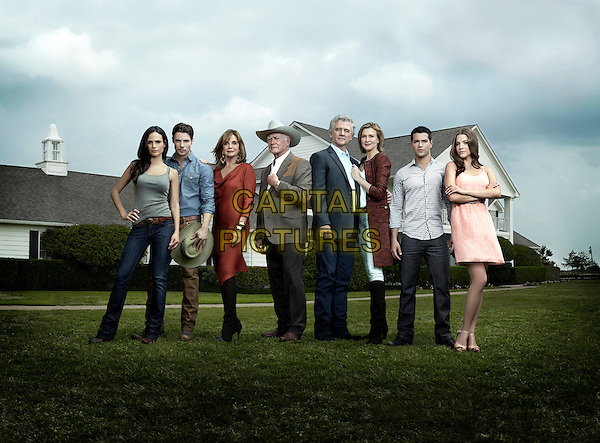 Jordana Brewster, Josh Henderson, Linda Gray, Larry Hagman, Patrick Duffy, Brenda Strong, Jesse Metcalfe & Julie Gonzalo.in Dallas (2012) .*Filmstill - Editorial Use Only*.CAP/NFS.Supplied by Capital Pictures.