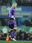 Leicester City goalkeeper Kasper Schmeichel<br /> - Barclays Premier League - Everton vs Leicester City - Goodison Park - Liverpool - England - 19th December 2015 - Pic Robin Parker/Sportimage