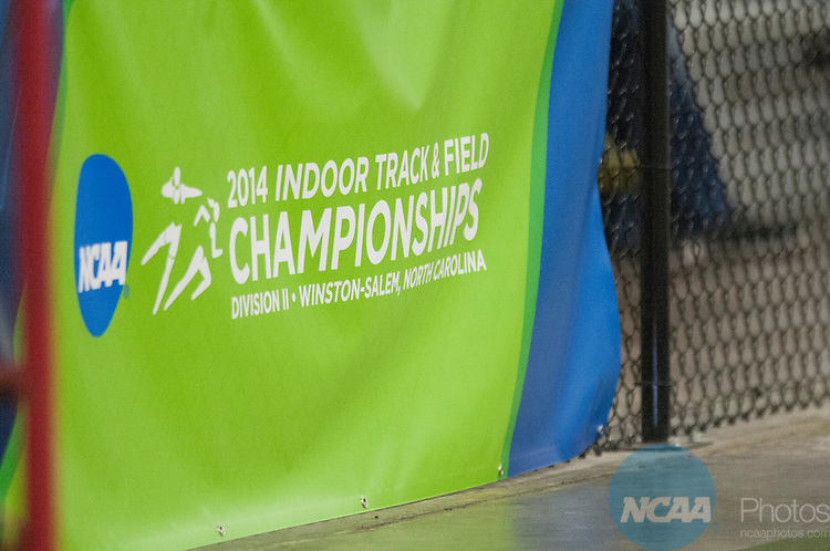 15 MAR 2014: A general view of the Division II Men's and Women's Indoor Track and Field Championships held at the JDL Fast Track in Clemmons, NC, Saturday March 15, 2014.  Bruce Chapman/NCAA Photos