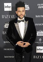 NEW YORK, NY - SEPTEMBER 08:  The Weeknd attends the 2017 Harper's Bazaar Icons at The Plaza Hotel on September 8, 2017 in New York City. <br /> CAP/MPI/JP<br /> &copy;JP/MPI/Capital Pictures