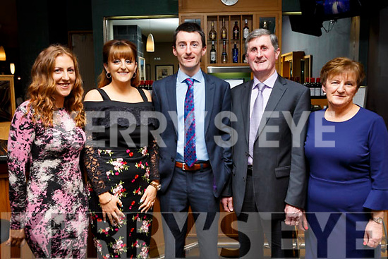 The O'Regan family from Kilmoyley attending the Kilmoyley GAA social in the Ballyroe Heights Hotel on Saturday night last. L-r, Lorna, Regina, Shane, Mike and Mary O'Regan.