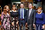 The O'Regan family from Kilmoyley attending the Kilmoyley GAA social in the Ballyroe Heights Hotel on Saturday night last. L-r, Lorna, Regina, Shane, Mike and Mary O'Regan.