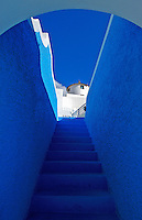 The Blue steps the colors of Santorini, Greece