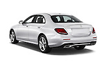 Car pictures of rear three quarter view of 2017 Mercedes Benz E-Class E300 4 Door Sedan Angular Rear