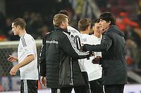Bundestrainer Joachim Löw (D) feiert die WM-Qualifikation - WM Qualifikation 9. Spieltag Deutschland vs. Irland in Köln