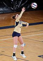 Florida International University women's volleyball player Rachel Fernandez (5) plays against the University of South Alabama.  FIU won the match 3-0 on October 30, 2011 at Miami, Florida. .