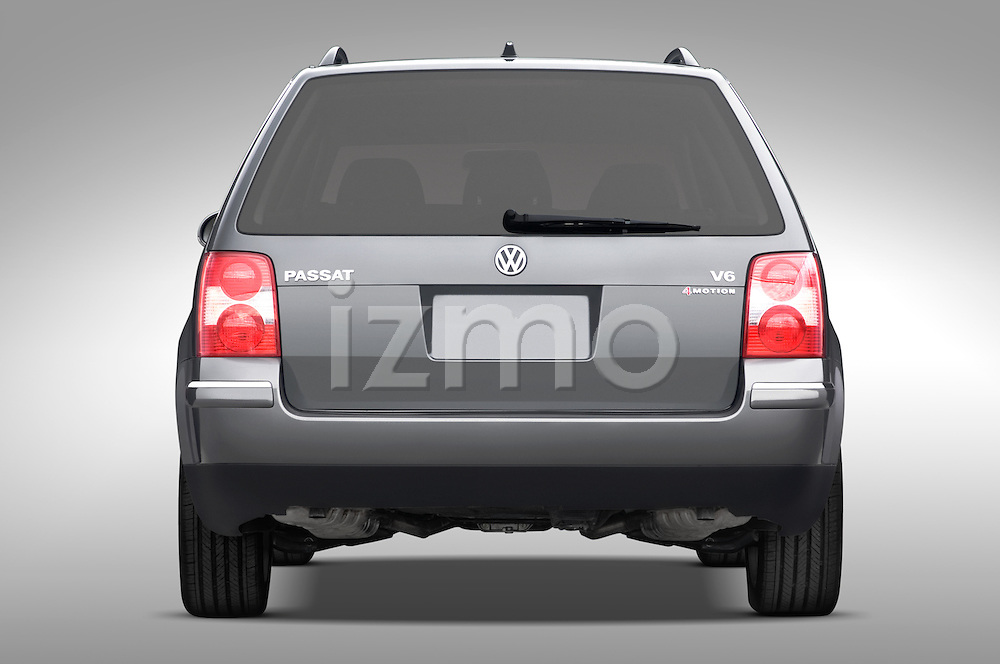 Straight rear view of a 2005 VW Passat Wagon GLX V6 4Motion