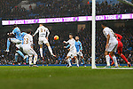 Wilfried Bony of Manchester City scores the opening goal - Manchester City vs Swansea - Barclays Premier League - Etihad Stadium - Manchester - 12/12/2015 Pic Philip Oldham/SportImage