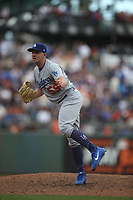 SAN FRANCISCO, CA - SEPTEMBER 29:  Zac Rosscup #59 of the Los Angeles Dodgers pitches against the San Francisco Giants during the game at AT&T Park on Saturday, September  29, 2018 in San Francisco, California. (Photo by Brad Mangin)