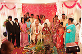 MAURITIUS, portrait of Konydev and Anishtah Hurloll following the ceremony at their Hindu wedding in the town of Surina