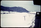 Train - freight cars &amp; tank cars - Monarch? in winter.<br /> D&amp;RGW  Monarch ?, CO