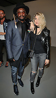 Will.i.am ( William Adams ) and Fergie Duhamel at the Gareth Pugh LFW s/s 2017 catwalk show, BFC Show Space, Brewer Street Car Park, Brewer Street, London, England, UK, on Saturday 17 September 2016.<br /> CAP/CAN<br /> &copy;CAN/Capital Pictures /MediaPunch ***NORTH AND SOUTH AMERICAS ONLY***