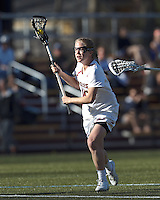 Boston College midfielder Sarah Mannelly (6) on the attack from the free position.