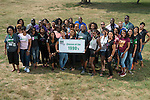Ohio University graduates from the 1990s pose for a portrait during the 2016 Black Alumni Reunion's 'Through the Decades Cookout' at Tailgreat Park on Saturday, September 17, 2016.