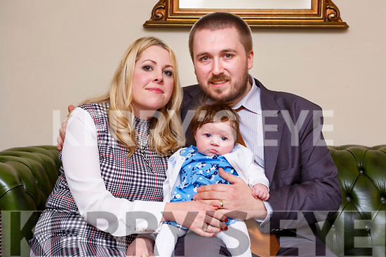 Little Lily McGough, Cahernane Meadows Killarney celebrated her christening with her parents Brendan and Rosanna in the Torc Hotel Killarney on Saturday