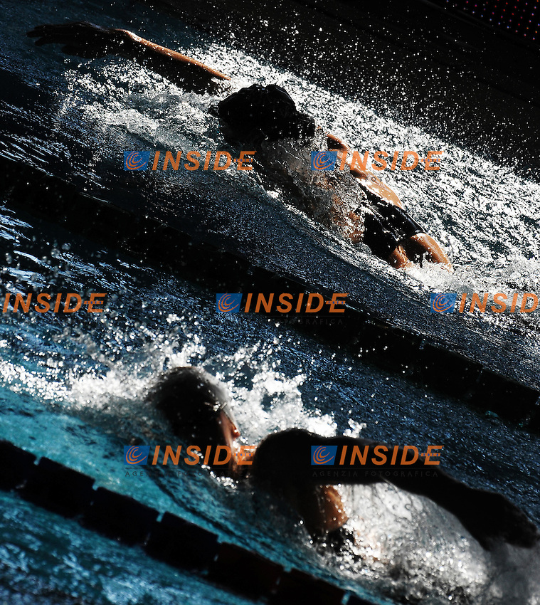 800 m stile libero Donne Alisia Tettamanzi Aquasport Rane Rosse, Ludovica Galli Pesaro Nuoto.Riccione 10/03/2012 .Nuoto Campionati Italiani primaverili.Foto Insidefoto Andrea Staccioli