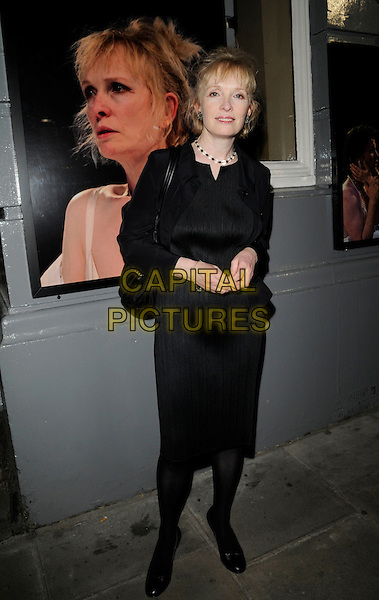 """LINDSAY DUNCAN .Attends """"That Face"""" Press Night, Duke Of York's Theatre, London, England, UK,.May 9th 2008..full length black jacket dress.CAP/CAN.©Can Nguyen/Capital Pictures"""
