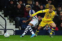 Grady Diangana of West Bromwich Albion battles with Jay Fulton of Swansea City during the Sky Bet Championship match between West Bromwich Albion and Swansea City at The Hawthorns in Birmingham, England, UK. Sunday 08 December 2019