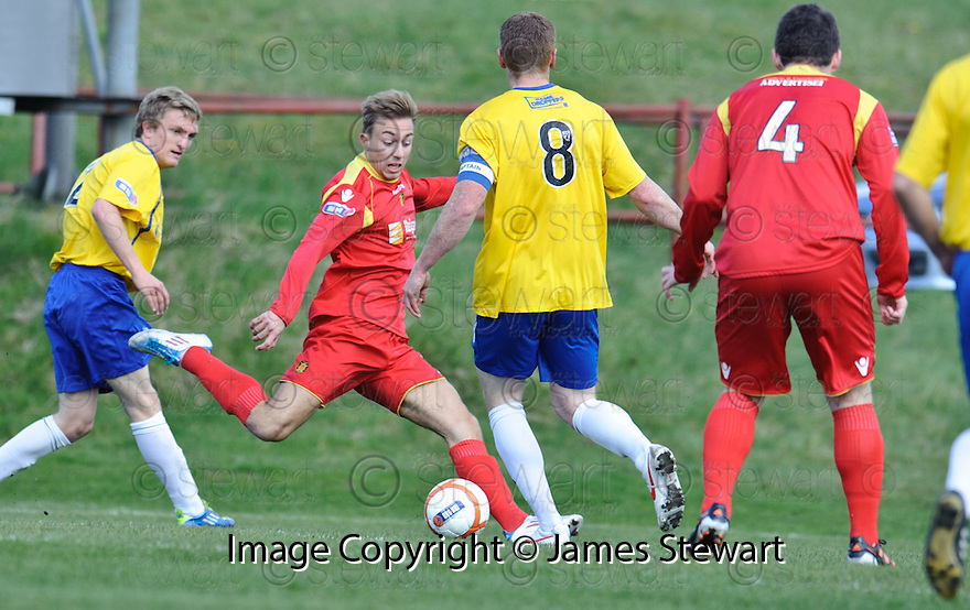 ALBION'S JACK WERNDLY  SCORES THE FIRST
