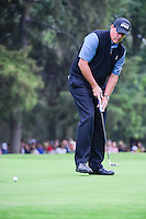 Phil Mickelson (USA) barely misses his birdie attempt on 18  during round 3 of the World Golf Championships, Mexico, Club De Golf Chapultepec, Mexico City, Mexico. 3/4/2017.<br /> Picture: Golffile | Ken Murray<br /> <br /> <br /> All photo usage must carry mandatory copyright credit (&copy; Golffile | Ken Murray)