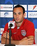 """9 September 2008: Landon Donovan (USA). US Soccer held a press conference in preparation for their semifinal round World Cup Qualifying match against Trinidad and Tobago.  The press conference was held at """"Soccer House"""", the US Soccer offices in Chicago, Illinois."""