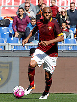 Calcio, Serie A: Roma vs Napoli. Roma, stadio Olimpico, 25 aprile 2016.<br /> Roma&rsquo;s Maicon in action during the Italian Serie A football match between Roma and Napoli at Rome's Olympic stadium, 25 April 2016.<br /> UPDATE IMAGES PRESS/Riccardo De Luca