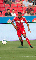 July 3, 2013: Toronto FC midfielder Reggie Lambe #19 in action during an MLS game between Toronto FC and Montreal Impact at BMO Field in Toronto, Ontario Canada.<br /> The game ended in a 3-3 draw.