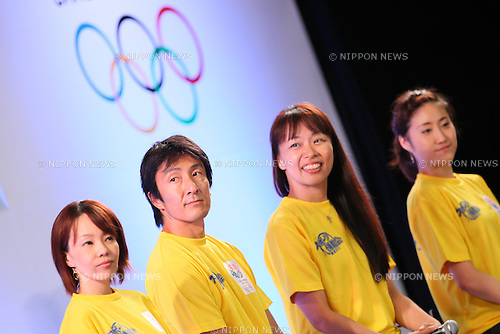 (L-R) Masako Chiba, Nobuharu Asahara, Yoriko Okamoto, ,Kotono Tanaka (JPN), SEPTEMBER 8, 2013 : Public Viewing of the bid to host the 2020 Summer Olympic Games at Komazawa Gymnasium, Tokyo Japan on Sunday September 8, 2013. (Photo by AFLO SPORT) [1156]