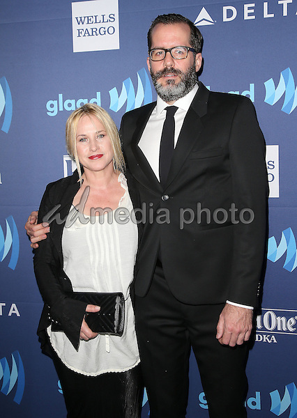 21 March 2015 - Beverly Hills, California - Patricia Arquette, Eric White. 26th Annual GLAAD Media Awards held at The Beverly Hilton Hotel. Photo Credit: F. Sadou/AdMedia