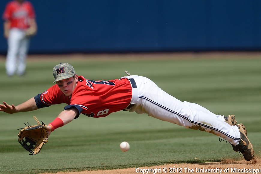 The Ole Miss Rebels take on the LSU Tigers in game 3 of the series on Sunday. (Photo by Kevin Bain/UM Communications)