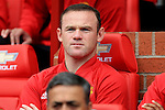 Wayne Rooney of Manchester United watches from the bench during the Premier League match at Old Trafford Stadium, Manchester. Picture date: September 24th, 2016. Pic Sportimage