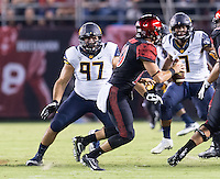 San Diego, Ca - September 10, 2016: The Cal Bears vs the San Diego St Aztecs at Qualqcomm Stadium. Final score Cal Bears 40, San Diego St Aztecs 45.