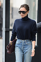 www.acepixs.com<br /> February 9, 2018 New York City<br /> <br /> Victoria Beckham was seen in New York City on February 9, 2018.<br /> <br /> Credit: Kristin Callahan/ACE Pictures<br /> <br /> Tel: 646 769 0430<br /> Email: info@acepixs.com